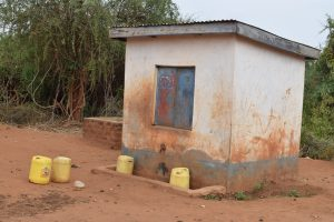 The Water Project:  Water Containers In Courtyard