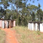 The Water Project: Ndoo Secondary School -  Girls Latrines