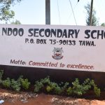 The Water Project: Ndoo Secondary School -  School Sign