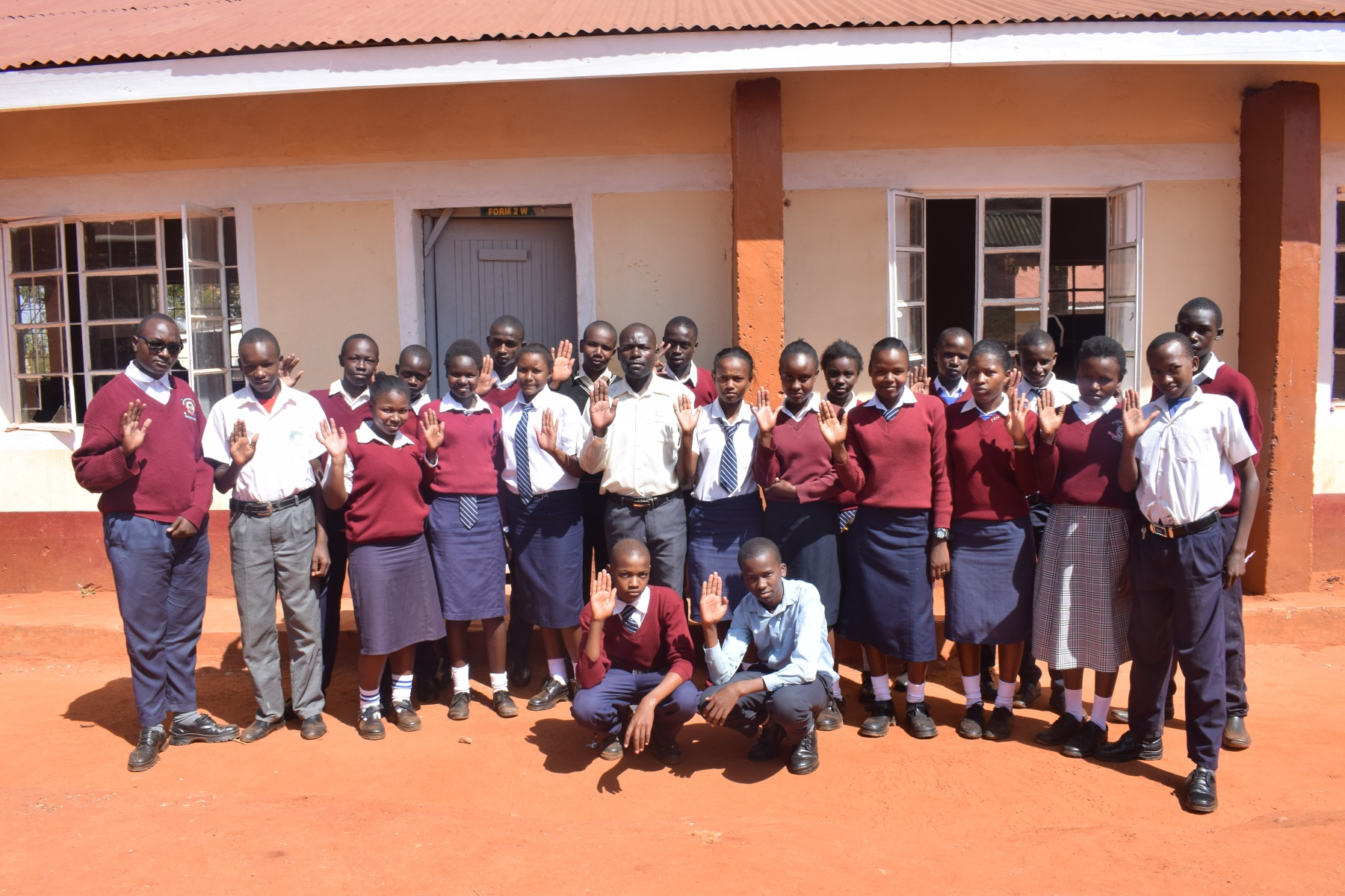 The Water Project : kenya18241-students