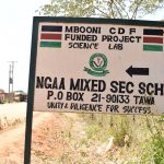 The Water Project: Ngaa Secondary School -  School Sign