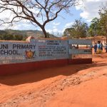 The Water Project: Mbuuni Primary School -  Entrance And Sign