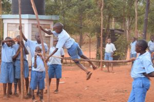 The Water Project:  Students Pole Vaulting