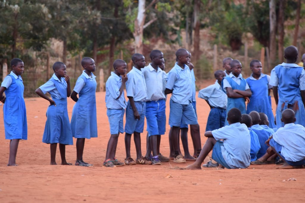 The Water Project : kenya18247-students-socializing