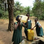 The Water Project: PC Bai Shebora Gbereh III Primary School -  Drinking Unsafe Well Water