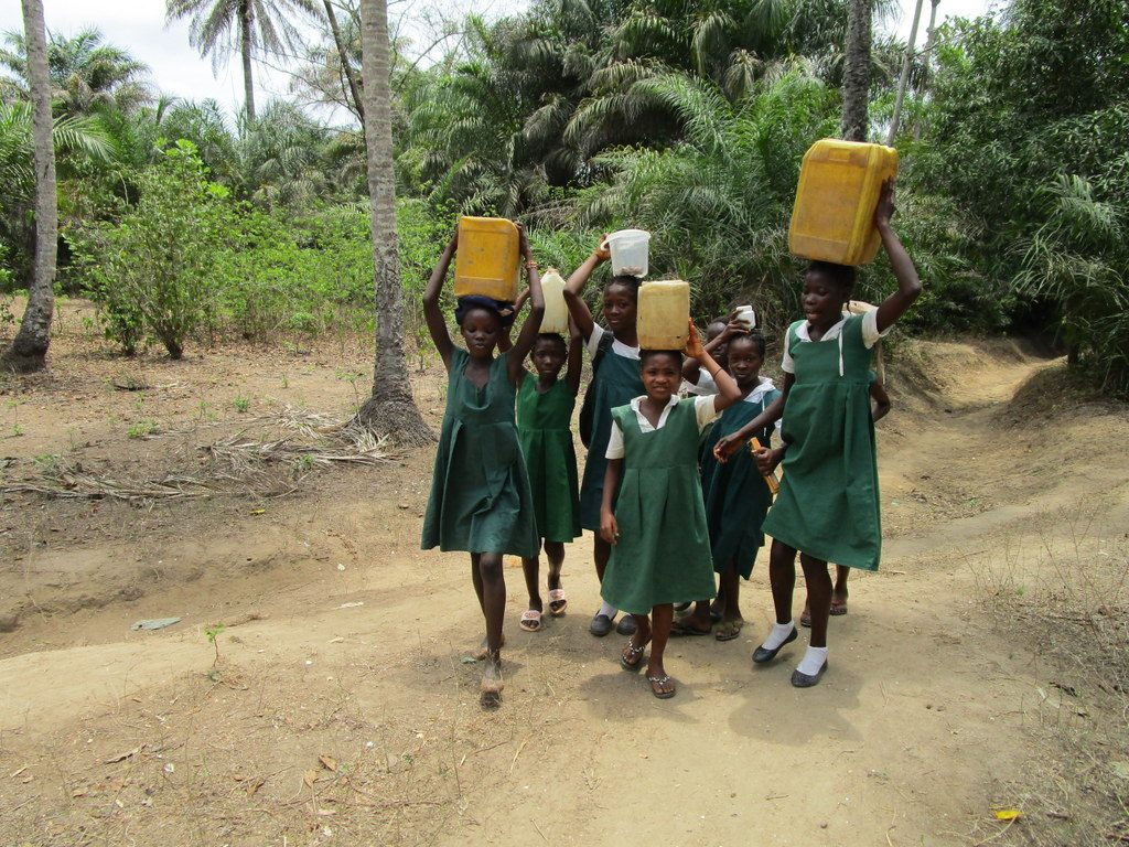 The Water Project : sierraleone18267-ready-to-bring-water-back-home