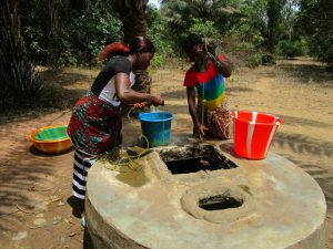 The Water Project:  Fetching Water At Open Well