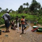 The Water Project: Mapitheri, Port Loko Road -  Kids Play At Water Source