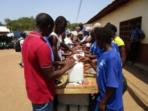 The Water Project:  Learning To Construct Handwashing Stations To Use At Home