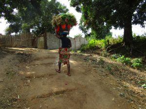 The Water Project:  Carrying Items On Her Head