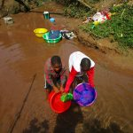 The Water Project: Tintafor Community, Shyllon Street -  Fetching Water At Open Source