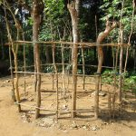 The Water Project: Moniya Community -  Ongoing Bathshelter Construction