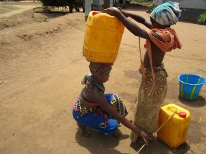 The Water Project:  Preparing To Carry Water Home