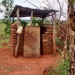 The Water Project: Kyamudikya Community A -  Latrine With Handwashing Station