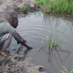The Water Project: Kyamudikya Community A -  Open Water Source