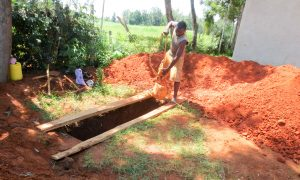 The Water Project:  Digging The Pit For Latrines
