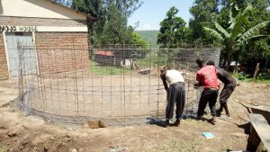 The Water Project:  Iron Mesh Used In Tank Wall