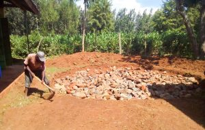 The Water Project:  Working On The Tank Foundation