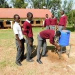 The Water Project: Bishop Makarios Secondary School -  Handwashing Stations