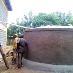 The Water Project: Eshisenye Girls Secondary School -  Tank Construction