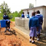 The Water Project: Eshisenye Girls Secondary School -  Finished Latrines And Handwashing Station