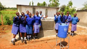 The Water Project:  Finished Latrines And Handwashing Station