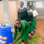 The Water Project: Injira Secondary School -  Handwashing Station