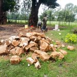 The Water Project: Bushili Primary School -  Breaking Up Stones For Construction
