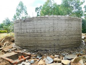 The Water Project:  Cement Drying On Tank