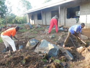 The Water Project:  Excavation Of Tank Site At The School