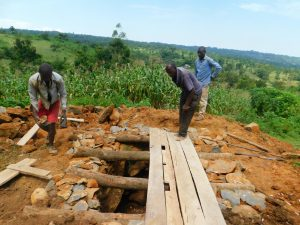 The Water Project:  Setting Up Foundation Of Latrine