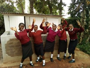 The Water Project:  Celebration In Front Of Girls Latrines