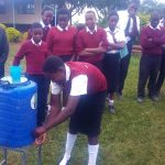 The Water Project: Essong'olo Secondary School -  Handwashing Using The New Stations