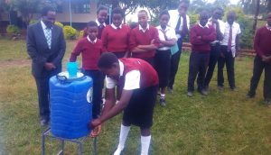 The Water Project:  Handwashing Using The New Stations