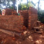 The Water Project: Essong'olo Secondary School -  Latrine Under Construction