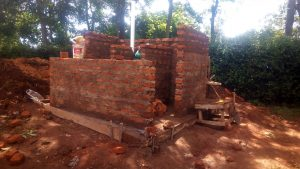 The Water Project:  Latrine Under Construction