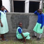 The Water Project: Musabale Primary School -  Posing In Front Of New Latrines