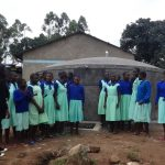 The Water Project: Musabale Primary School -  Students Learn To Care For New Tank