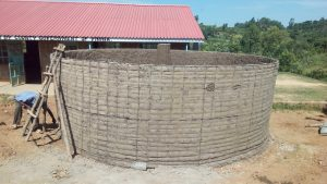 The Water Project:  Cement For Tank Walls Dries