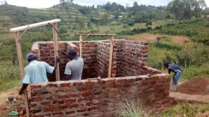 The Water Project:  Latrines Under Construction