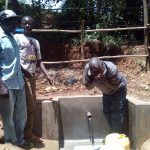The Water Project: Wasenje Community, Margaret Jumba Spring -  Drinking Safe Clean Water