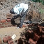 The Water Project: Wasenje Community, Margaret Jumba Spring -  Laying Brick At Spring