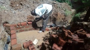 The Water Project:  Laying Brick At Spring