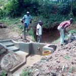 The Water Project: Wasenje Community, Margaret Jumba Spring -  Nearly Done