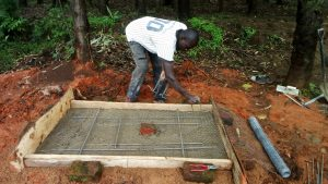 The Water Project:  Preparing New Latrine Platform