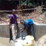 The Water Project: Wasenje Community, Margaret Jumba Spring -  Safe Water Flowing