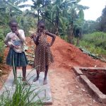 The Water Project: Wasenje Community, Margaret Jumba Spring -  Strike A Pose On New Latrine Platform