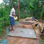 The Water Project: Shiru Community, Sammy Alumola Spring -  Cleaning New Latrine Platform