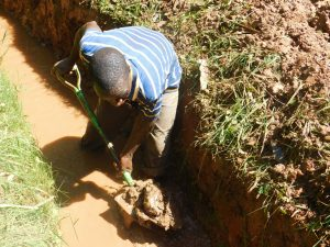 The Water Project:  Digging At New Spring