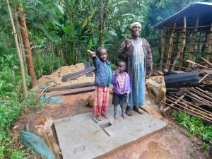 The Water Project:  New Latrine Platform